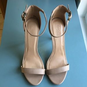 Charlotte Russe Ankle Strap Nude Heels Size 10